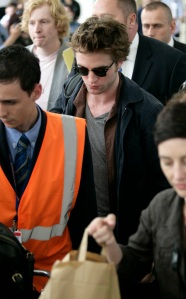 Robert Pattinson Arriving At Nice Airport For Cannes Film Festiv