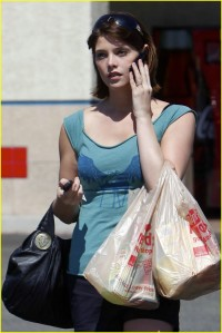 Ashley Greene at Ralphs Market