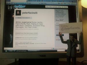 E.C. Says Follow Peter Facinelli