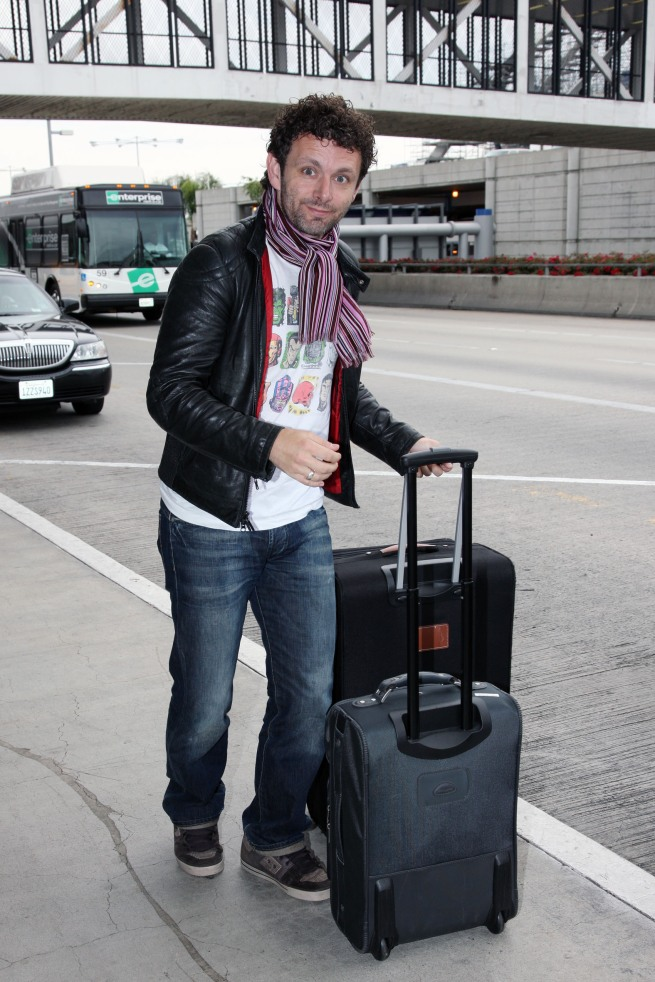 Michael Sheen at LAX