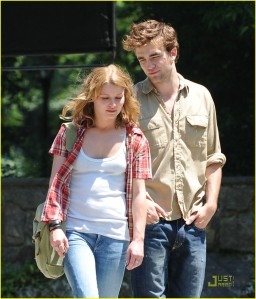 Rob and Emilie filming in Central Park