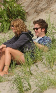 Rob and Emilie on the Beach