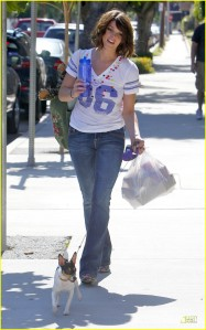 Ashley in LA walking Marlow