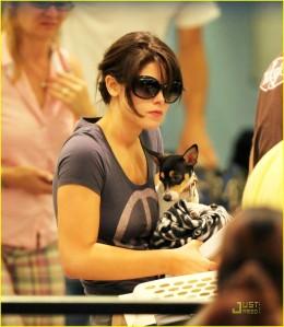 Ashley Greene and Marlow at LAX