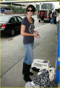 Ashley Greene and Marlow at LAX2