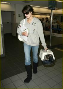 Ashley Greene and Marlow at LAX3