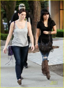 Ashley Greene and Vanessa Hudgens in Vancouver