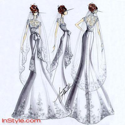 Bella's Wedding Dress Sketch