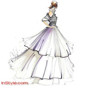 Bella's Wedding Dress Sketch3