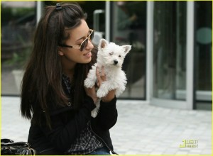 Christian Serratos and Bolt in Vancouver