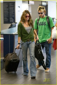 Nikki Reed and Paris Latsis at LAX