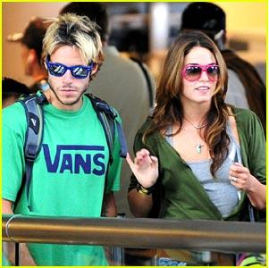 Nikki Reed and PAris Latsis at LAX2