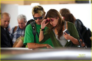 Nikki Reed and Paris Latsis at LAX3
