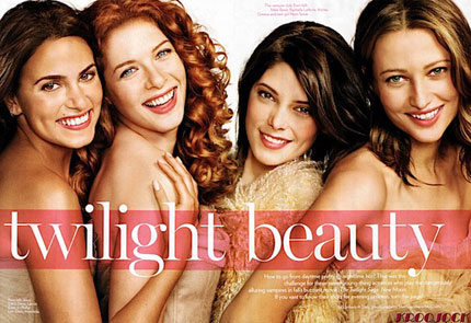 Nikki Reed Rachelle Lefevre Ashley Greene & Nott Seear Glamour Magazine