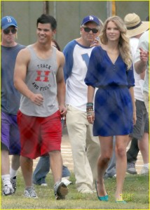 Taylor Lautner and Taylor Swift Track & Field