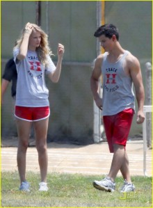 Taylor Lautner and Taylor Swift Track & Field2