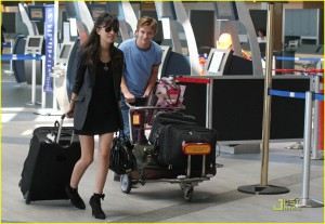 Christian Serratos and Michael Welch Vancouver airport