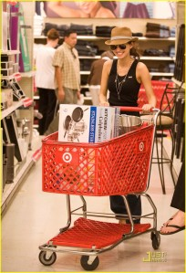 Christian Serratos at Target