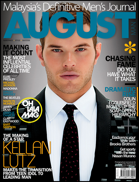 Kellan Lutz in Malaysia's August Issue