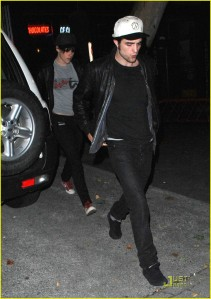 Kristen and Rob Leaving Bobby Long Concert