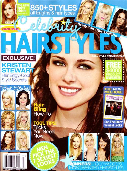 Kristen Stewart Celebrity Hair Styles Magazine