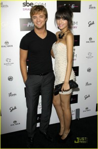 Michael Welch and Christian Serratos at Nightclub