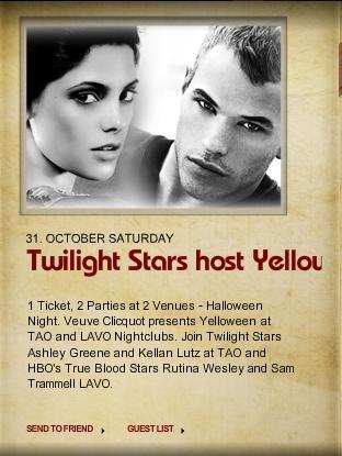 Ashley Greene and Kellan Lutz Host TAO Halloween Party