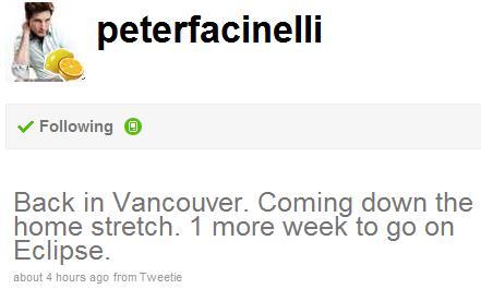 Peter's Tweet Eclipse Details
